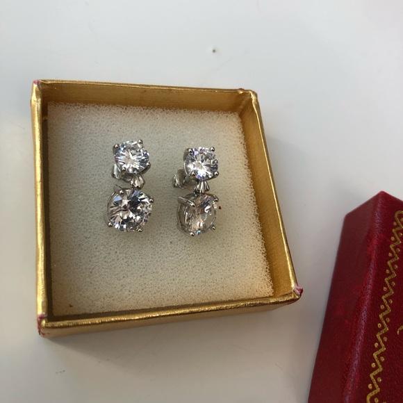 New in Box Kenneth Jay Lane CZ Drop Earrings